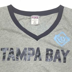 9de43a17 PINK VS Tampa Bay Rays Size XS Sparkle Crop Top
